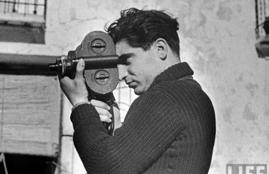 Photographer Robert Capa during the Spanish civil war, May 1937. Photo by Gerda Taro.