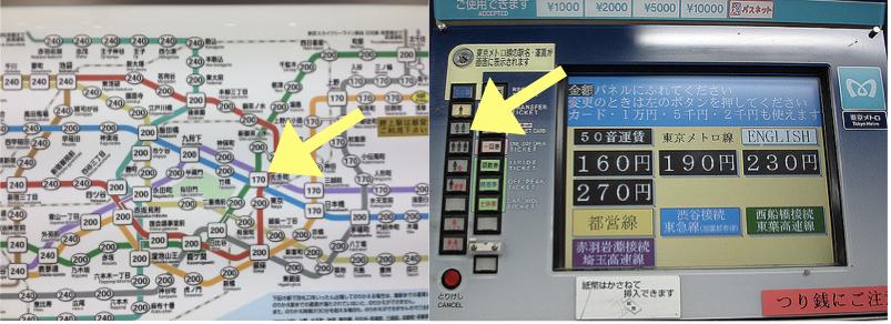 La biglietteria automatica della metro di Tokyo