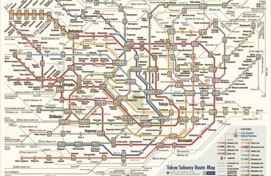 La metropolitana di Tokyo